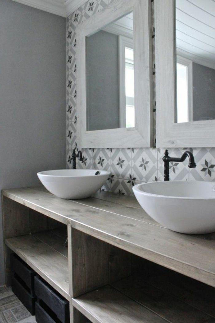Id e d coration salle de bain vasque salle de bain for Meuble salle de bain avec vasque a poser