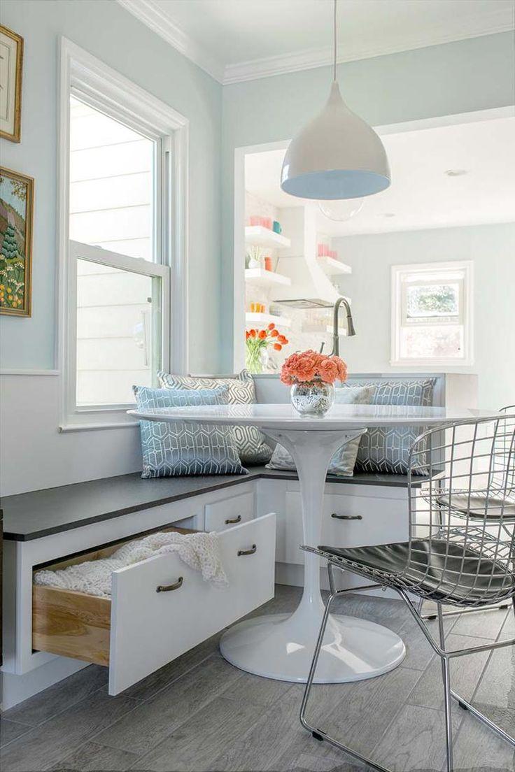 id e relooking cuisine am nagement coin repas d 39 angle banquette avec rangements d cor e de. Black Bedroom Furniture Sets. Home Design Ideas