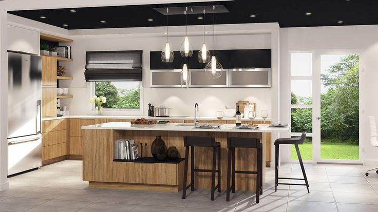 Id e relooking cuisine armoires de cuisine moderne for Idee armoire de cuisine