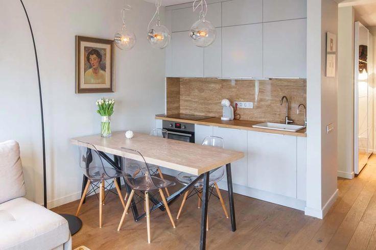 Id e relooking cuisine coin cuisine ouverte dans un petit studio la d coration moderne - Petit coin cuisine ...