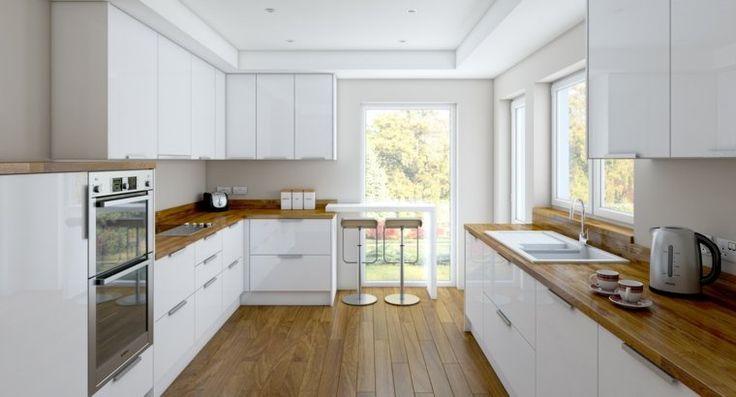id e relooking cuisine cuisine blanche laqu e moderne. Black Bedroom Furniture Sets. Home Design Ideas