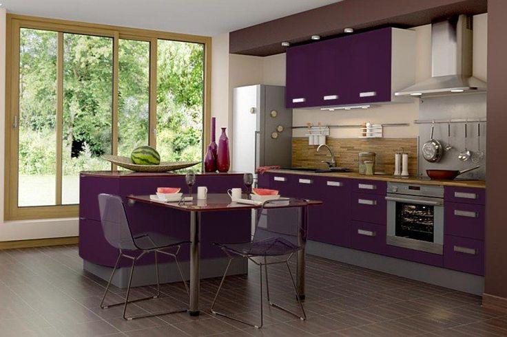 id e relooking cuisine cuisine couleur aubergine id e am nagement mobilier cuisine design. Black Bedroom Furniture Sets. Home Design Ideas