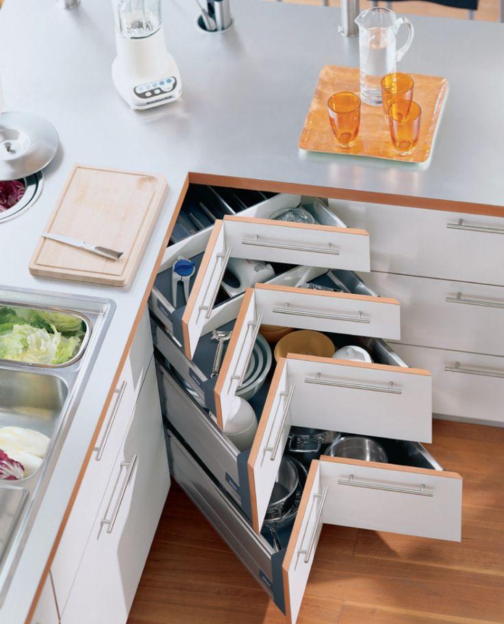 Id e relooking cuisine meuble d 39 angle cuisine moderne et for Idee gain de place