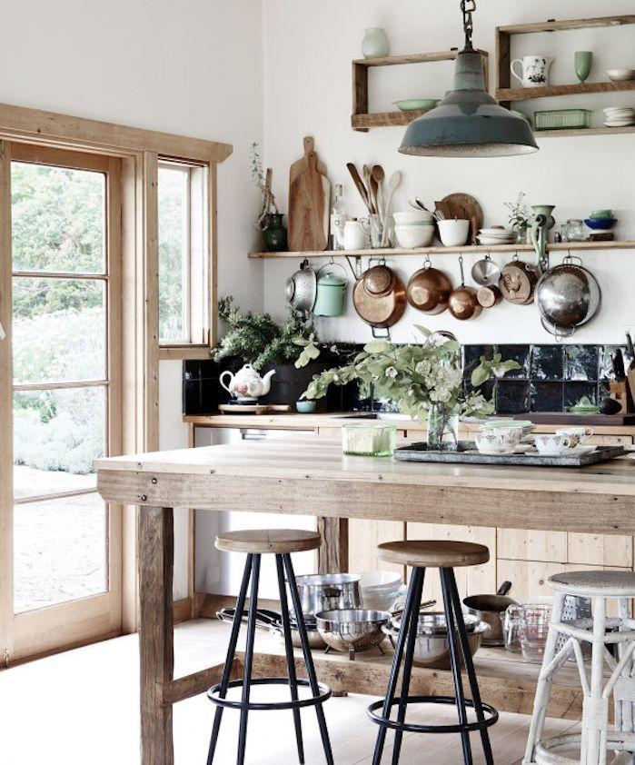 id e relooking cuisine modele de cuisine ancienne campagne avec bar en bois meuble cuisine. Black Bedroom Furniture Sets. Home Design Ideas