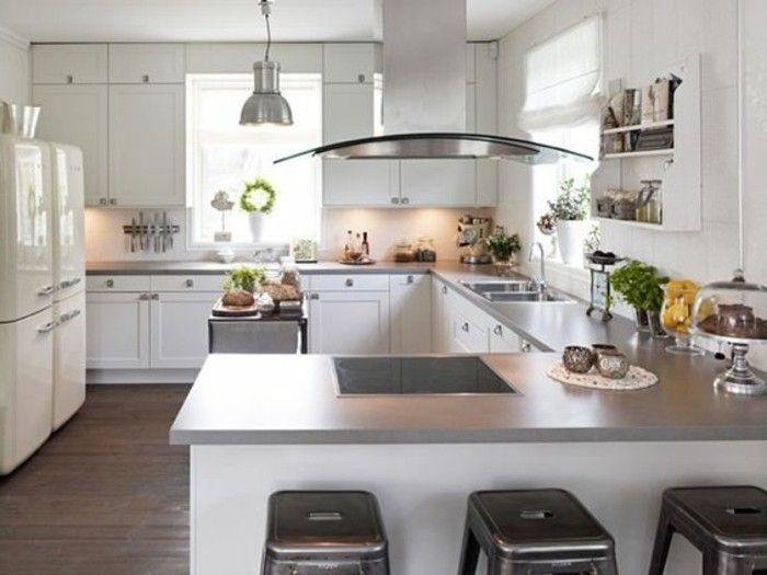 Id e relooking cuisine modele de cuisine ouverte sur for Modele de cuisine ouverte