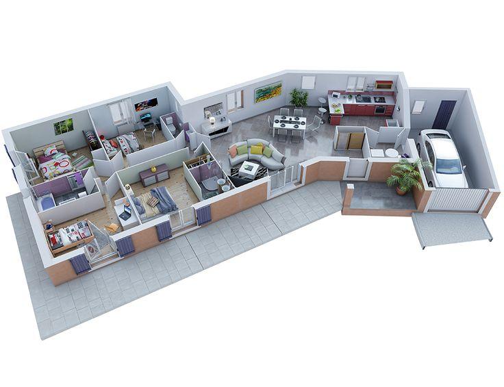 id e relooking cuisine plan maison proven ale mod le ecrin g noise villas trident. Black Bedroom Furniture Sets. Home Design Ideas