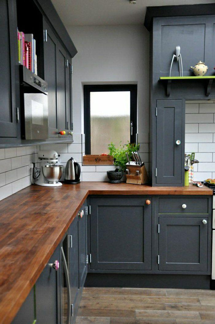Idée relooking cuisine - quelle couleur pour une cuisine, meubles de cuisine élégantes ...