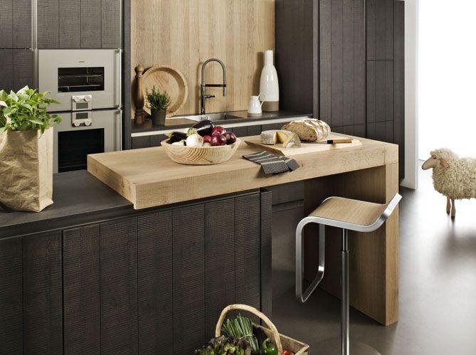 Id e relooking cuisine une cuisine ouverte avec plan de - Comment couper plan de travail cuisine ...