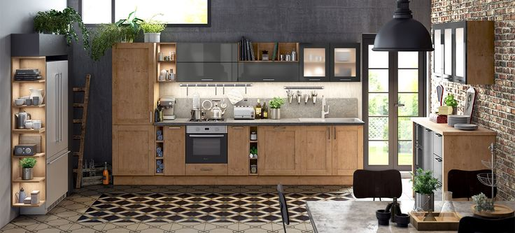 id e relooking cuisine une cuisine vintage au confort moderne la cuisine am nag e emina au. Black Bedroom Furniture Sets. Home Design Ideas