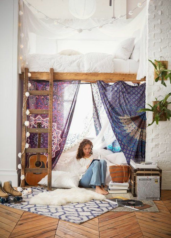 Relooking et d coration 2017 2018 jolie chambre ado pour fille ambiance boh me et cocooning - Relooking chambre ado fille ...