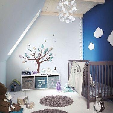 Relooking et décoration 2017 / 2018 - Un mur peint en bleu nuit ...