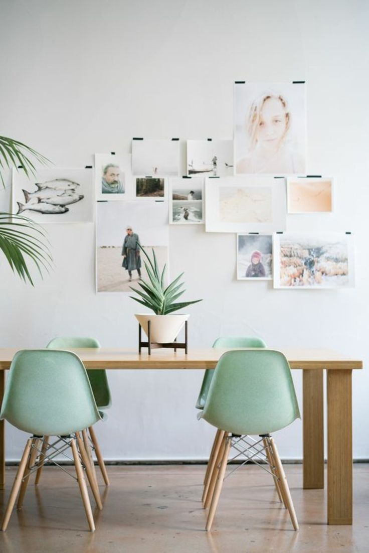 salle manger dining chairs of eames chairs in mint green leading. Black Bedroom Furniture Sets. Home Design Ideas