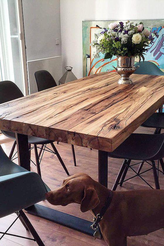 salle manger esstisch massivholztisch nussbaum. Black Bedroom Furniture Sets. Home Design Ideas