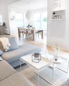 Salle à manger - Un intérieur à la #déco scandinave ! #blanc #beige ...