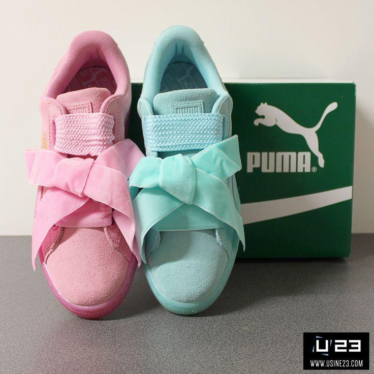 puma basket heart baby blau