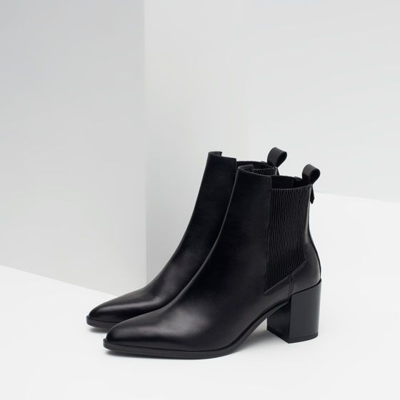 tendance chaussures 2017 image 6 de bottines talon en cuir avec lastiques de zara. Black Bedroom Furniture Sets. Home Design Ideas
