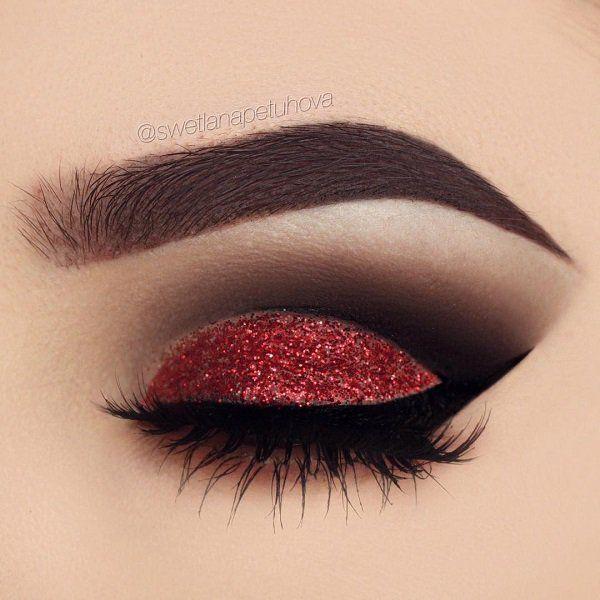 tendance maquillage yeux 2017 2018 combinaison rouge et noir est dans tous les sens tr s. Black Bedroom Furniture Sets. Home Design Ideas