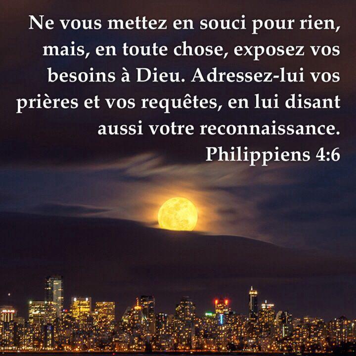 Populaire Citation - La Bible - Versets illustrés - Philippiens 4:6 - Ne  TF17