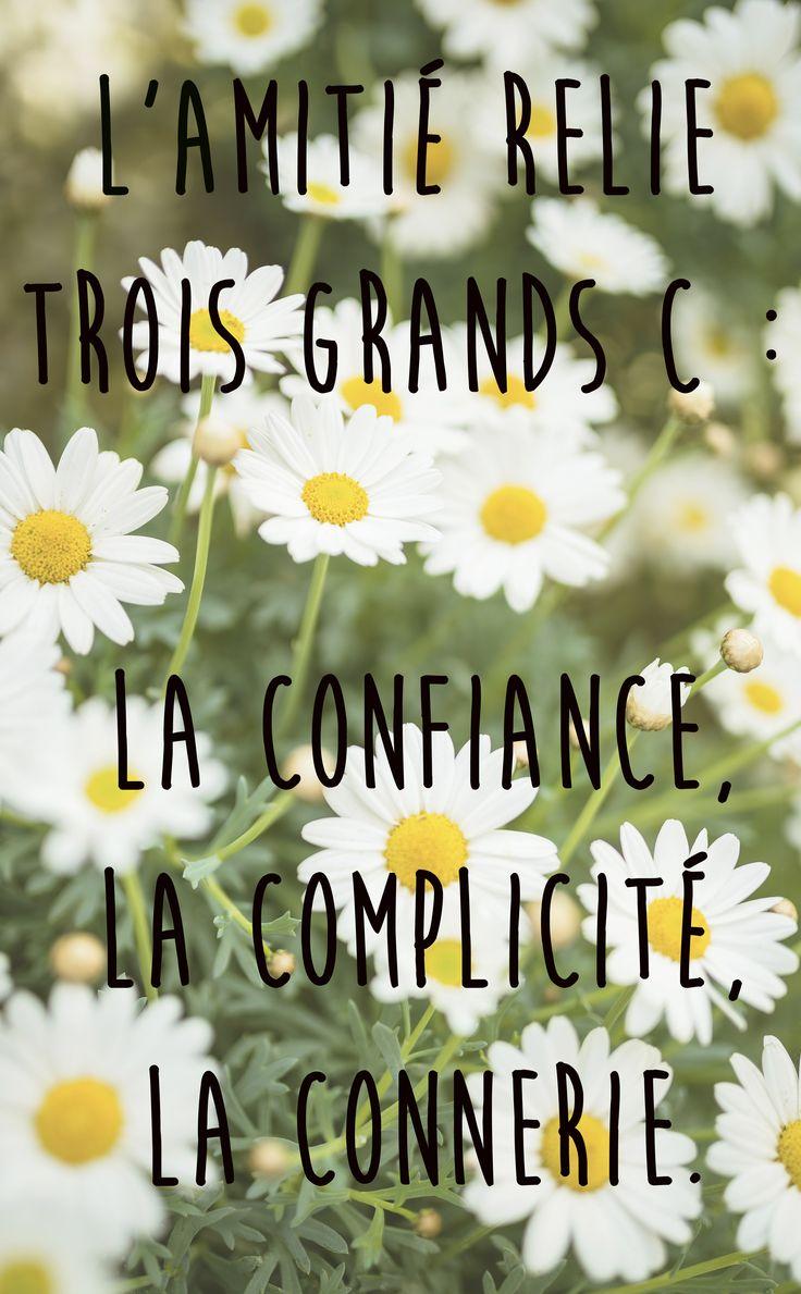 Citation L Amitié Relie Trois Grands C La Confiance La