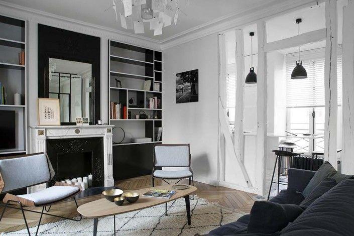 d co salon caroline desert decoratrice d 39 interieur salon cheminee ancienne bibilotheque. Black Bedroom Furniture Sets. Home Design Ideas