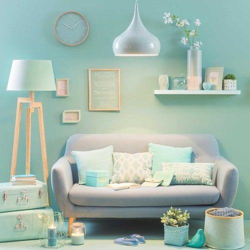 d co salon housse de coussin en coton menthe 40x40cm costa leading. Black Bedroom Furniture Sets. Home Design Ideas