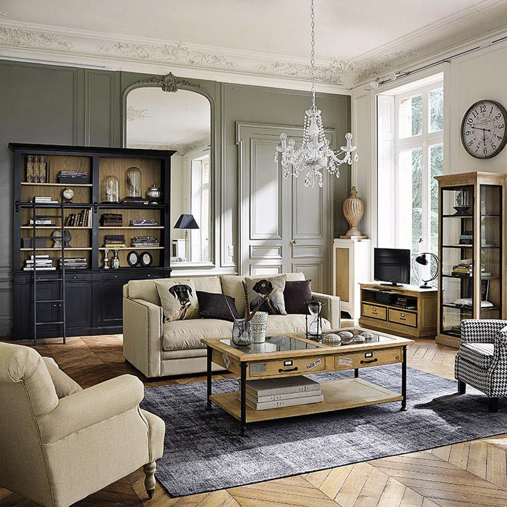 d co salon meubles d co d int rieur classique chic maisons du monde. Black Bedroom Furniture Sets. Home Design Ideas
