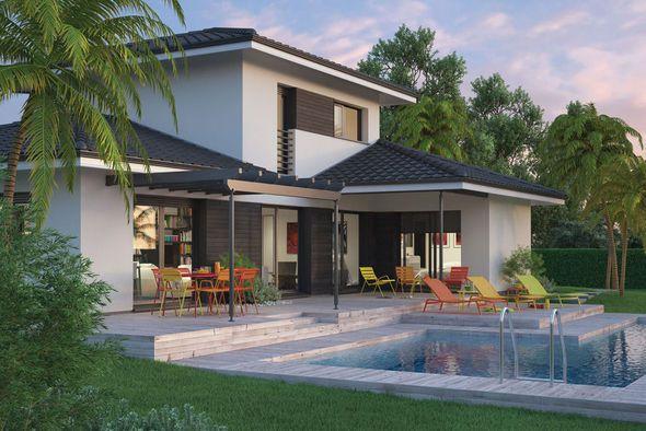 D co salon mod le de maison villa florida retrouvez for Les types de maison
