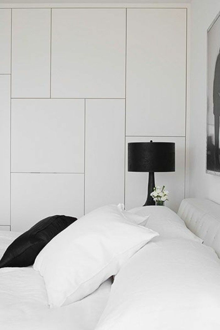 d co salon portes de placard en bois de couleur blanc dans la chambre coucher moderne. Black Bedroom Furniture Sets. Home Design Ideas