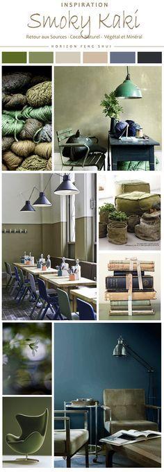 d co salon smoky kaki couleur feng shui tendances d co nature plantes vert meraude bleu. Black Bedroom Furniture Sets. Home Design Ideas
