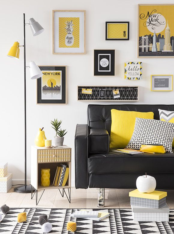 d co salon tendance d co yellow summer maisons du. Black Bedroom Furniture Sets. Home Design Ideas