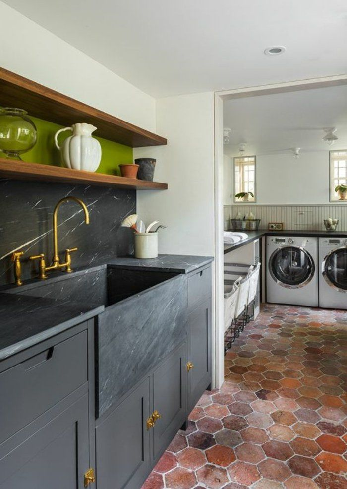 d co salon tomettes hexagonales pour le sol de cuisine leading. Black Bedroom Furniture Sets. Home Design Ideas