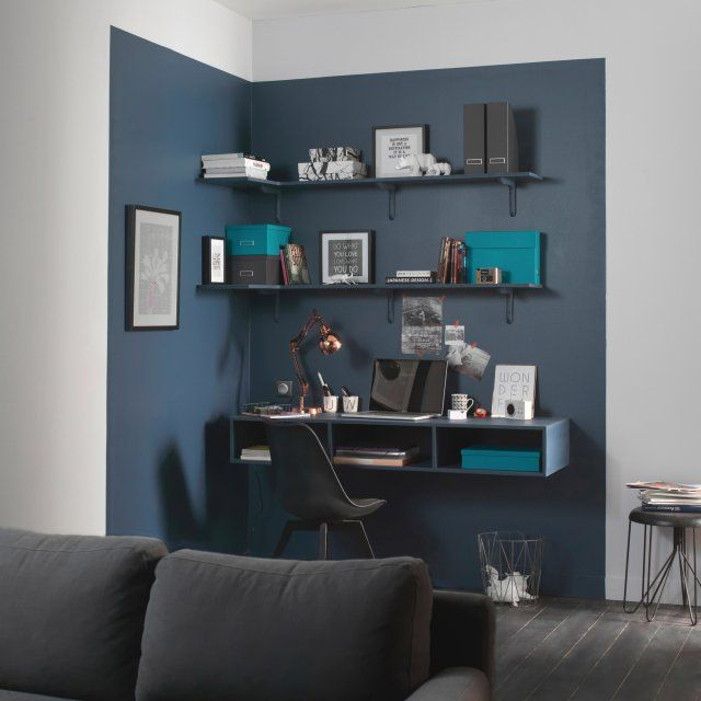 d co salon une d limitation color e au mur pour un max d effet dans ce salon pur. Black Bedroom Furniture Sets. Home Design Ideas