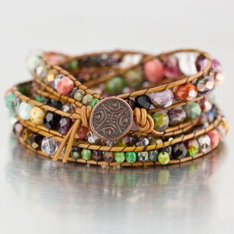 Diy Bijoux Diy Chan Luu Style Bohemian Wrap Bracelet Eureka Crystal Beads Czech Glass