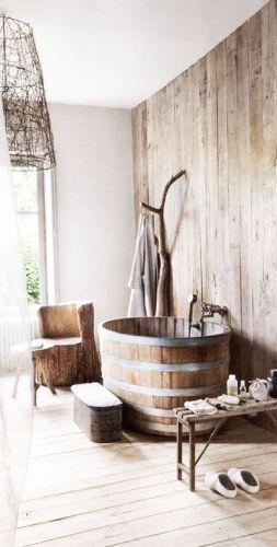 Id e d coration salle de bain bois d coration pierre for Deco salle de bain rustique