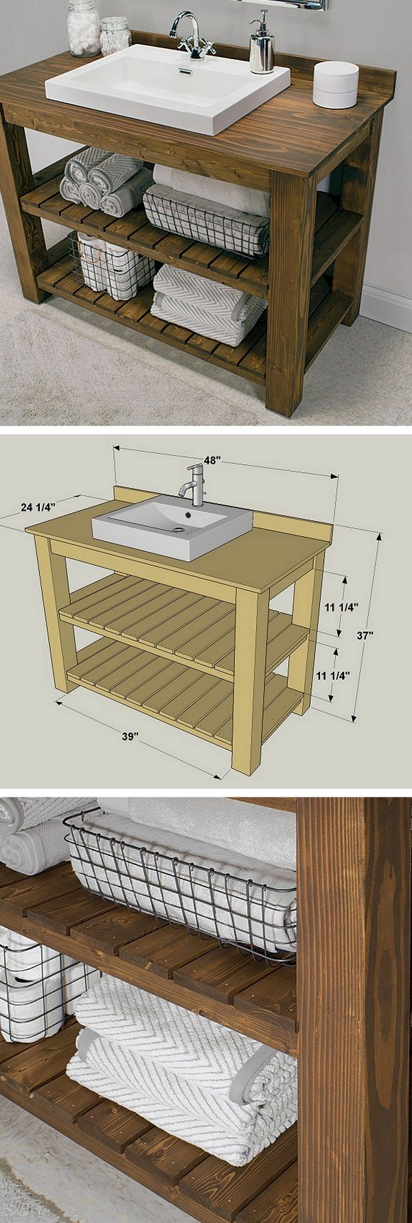 id e d coration salle de bain check out the tutorial how to make a diy rustic bathroom vanity. Black Bedroom Furniture Sets. Home Design Ideas