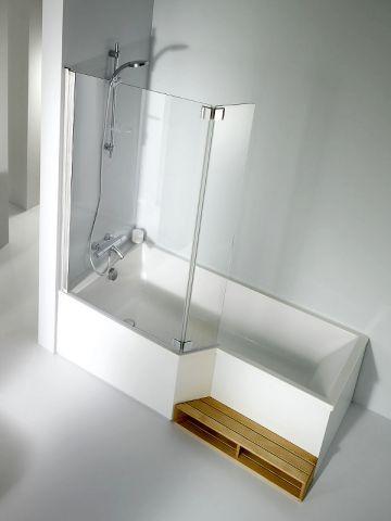 id e d coration salle de bain combin douche baignoire marche paroi douche salle de bains. Black Bedroom Furniture Sets. Home Design Ideas