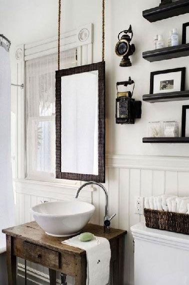 Idée décoration Salle de bain - Dans une salle de bain rétro le plan ...