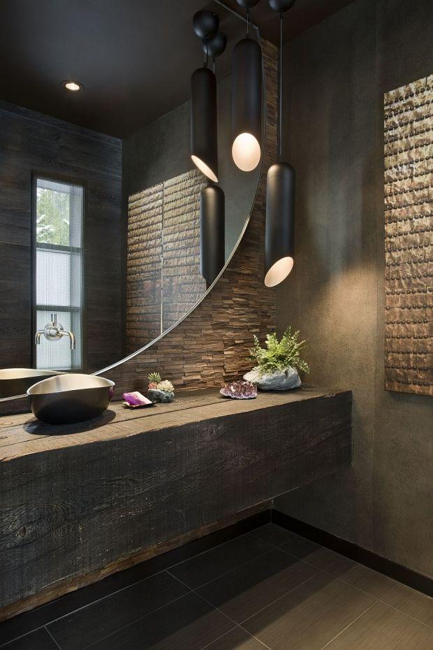 idée décoration salle de bain - design de la salle de bain en ... - Salle De Bain En Bois Et Pierre