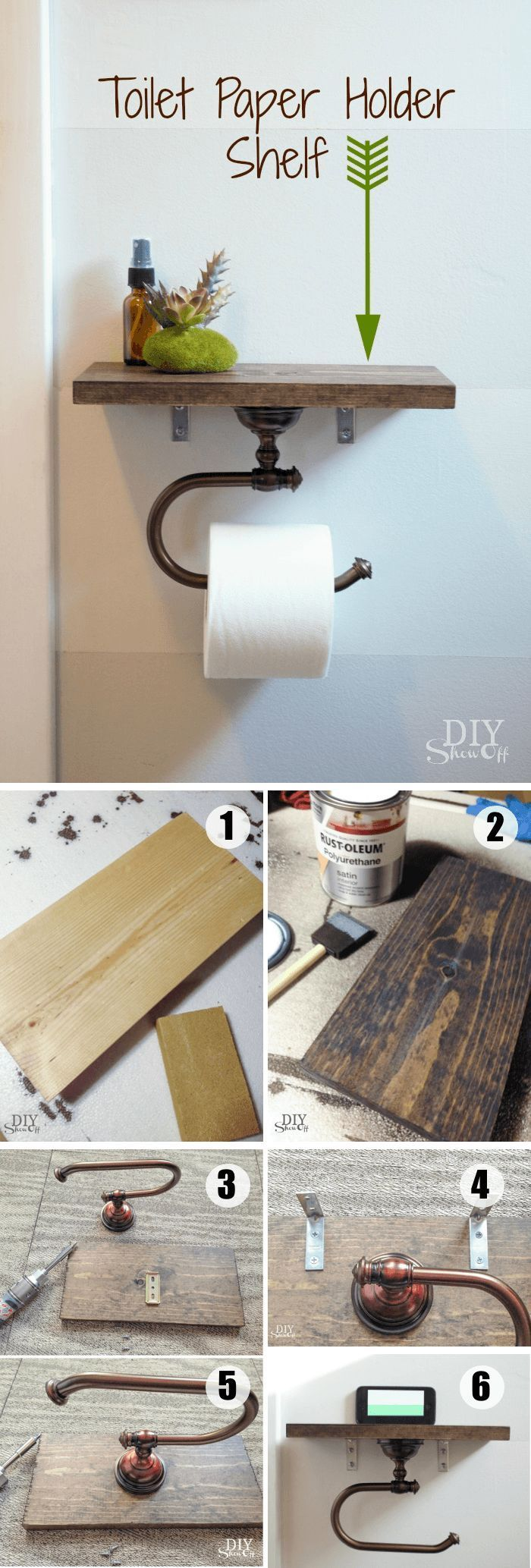 id e d coration salle de bain diy toilet paper holder with shelf use this clever and. Black Bedroom Furniture Sets. Home Design Ideas
