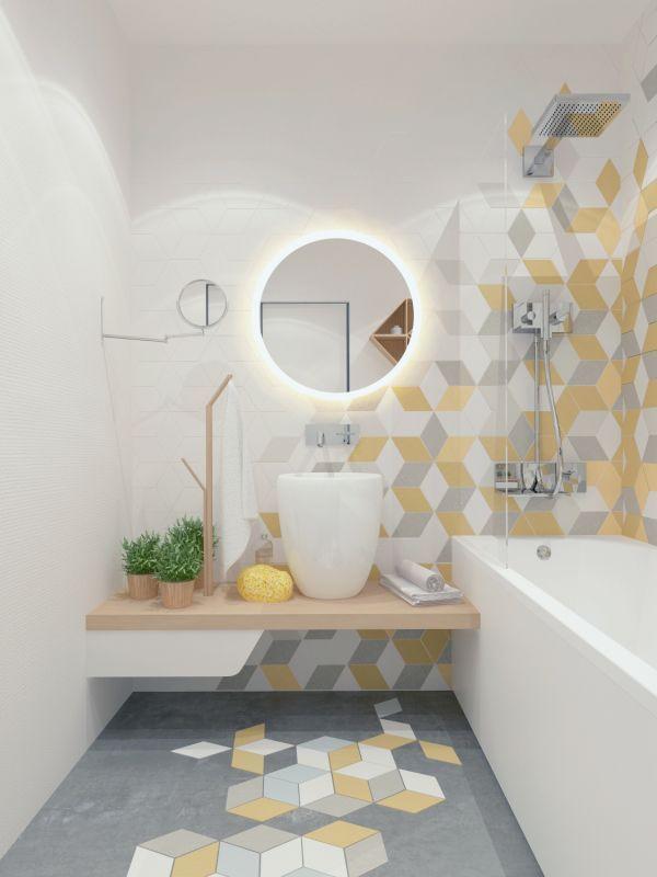 id e d coration salle de bain les formes g om triques qui vont du sol jusqu 39 au plafond en. Black Bedroom Furniture Sets. Home Design Ideas