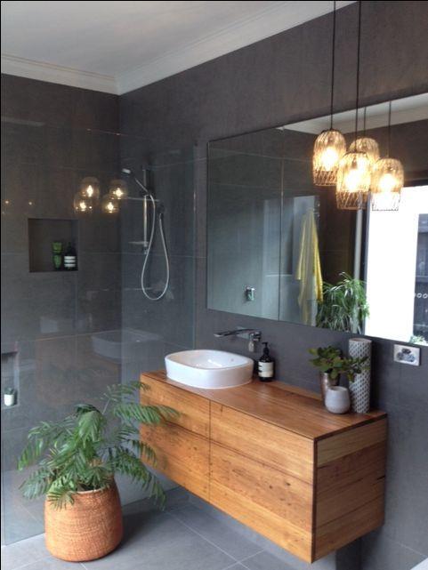 Id e d coration salle de bain misez sur le bois pour sublimer votre vasque poser Virtual worlds bathroom design