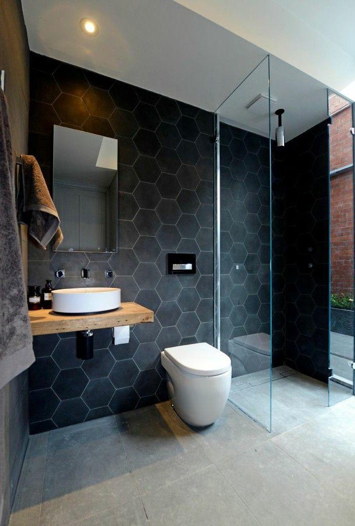 Id e d coration salle de bain on aime les tuiles de for Idee ceramique salle de bain