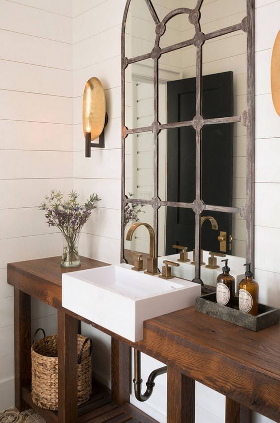 Idée décoration Salle de bain - Salle de bain rustique, chic et ...