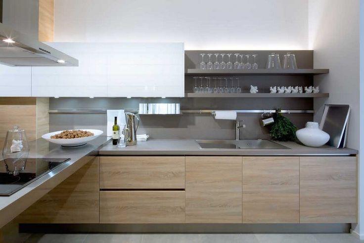 Id e relooking cuisine armoires de cuisine en bois et - Cuisine en bois blanc ...