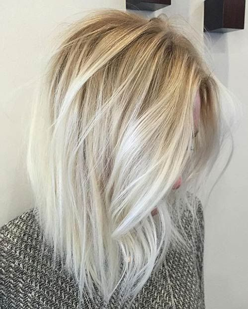 Idees Coupe Cheveux Pour Femme 2017 2018 11 Ice Blonde Balayage