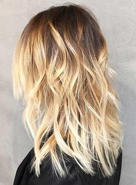 Description. 12 Dark Roots Light Ends Balayage blonde