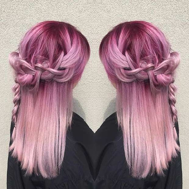 id es coupe cheveux pour femme 2017 2018 3 cheveux magenta pastel rose. Black Bedroom Furniture Sets. Home Design Ideas