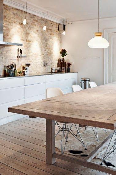 Salle à manger - Buffet + table à manger + combo couleurs + ...