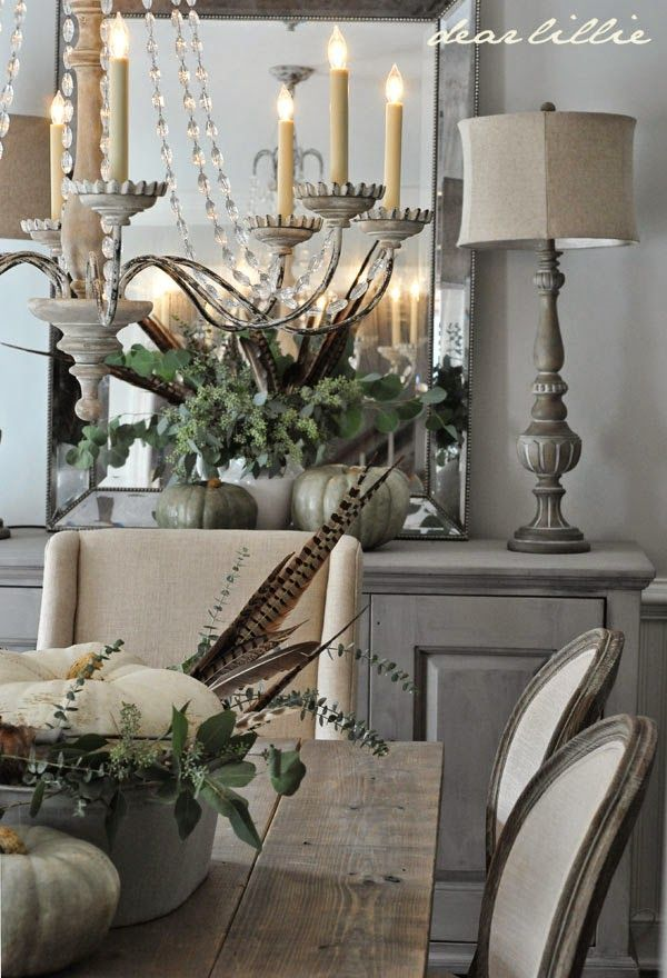Description Love This Rustic Glam Dining Room