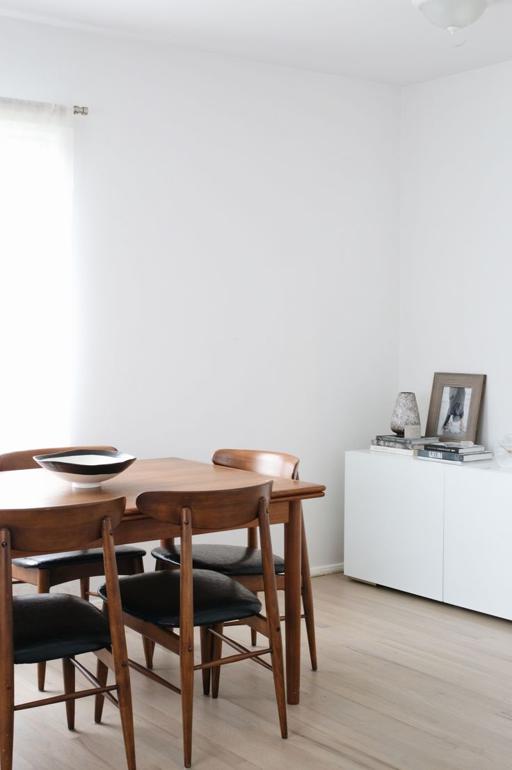 Minimalist Neutral Dining Room With Walls